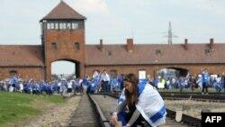Освенцим концлагері. Польша. (Көрнекі сурет).
