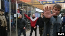 Погром в торговом центре в Бирюлеве