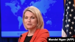 U.S. State Department spokesperson Heather Nauert.