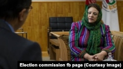Hawa Alam Nuristani, the head of the Afghanistan Independent Election Commission
