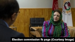 Hawa Alam Nuristani, the head of the Afghanistan Independent Election Commission.