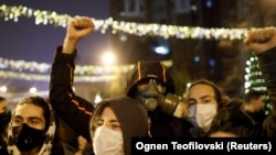High school students in North Macedonia protested in December against high levels of air pollution in Skopje.