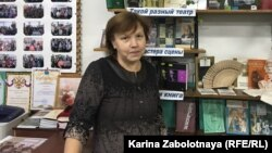 Lidia Panina has worked as the librarian in Zabolotye for 40 years.