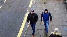 4 марта 2018 г. в 13:05, в день покушения на Сергея Скрипаля, подозреваемые засняты на Fisherton Street в Солсбери