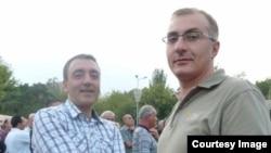 Активисты Айкак Аршамян (справа) и Сурен Сагателян (архив)