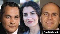 (از سمت راست) دکتر امير سلمان اوستی مهر، دکتر ياسمين مستوفی و دکتر علی خادم حسينی