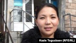 """""""Саясат алаңы"""" газетінің журналисі Инга Иманбай. Алматы, 29 қаңтар 2014 жыл."""