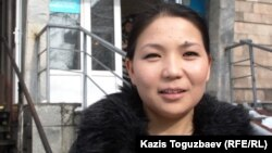 Инга Иманбай, журналист и представитель ИП «Алан журт», собственника оппозиционных газет «Трибуна - Саясат алаңы» и «Трибуна: Ашық алаң». Алматы, 29 января 2014 года.