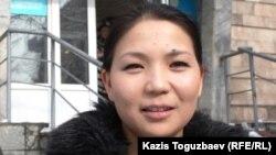 «Трибуна – Саясат алаңы» мен «Трибуна – Ашық алаң» оппозициялық басылымдарының меншік иесінің өкілі Инга Иманбай. Алматы, 29 қаңтар 2014 жыл.