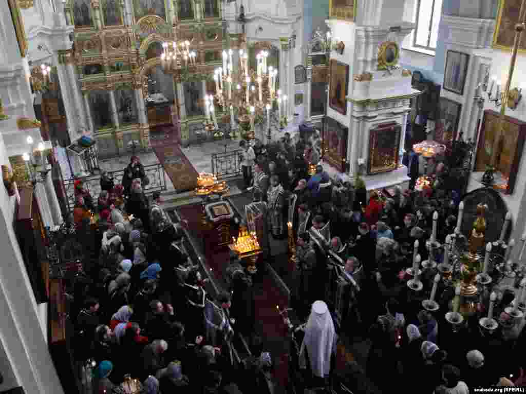 A church service was held in Minsk in memory of the victims.