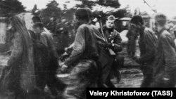 Советские военнопленные в шталаге XD (310) в поселке Витцендорф во время Великой Отечественной войны