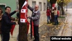 Odobrnički kandidati SDP-a lijepe predizborne plakate, cetinje, novembar 2013.