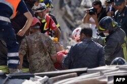 Наступствы землятрусу ў італьянскім горадзе Аматрычэ