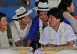 Эво Моралес на встрече с производителями коки. Кочабамба, 12 октября 2014 года
