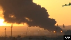 صحنهای از یکی از آتشسوزیهای قبلی در پالایشگاه حمص