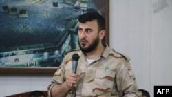"""""""Jayş al Yslam"""" toparynyň lideri Zahran Allouş, iýul, 2015"""