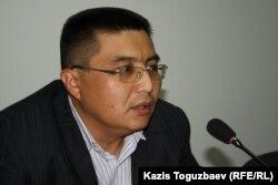 Куанышбек Кари, главный редактор Алматинского бюро Радио Азаттык. Алматы, 5 декабря 2011 года.