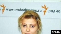 Инна Ходорковская в студии Радио Свобода