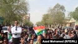 احتجاجات طلبة جامعة السليمانية.