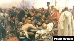 "Репин Ильян ""Туркойн султане кехат яздеш бу запорожхой"" сурт."
