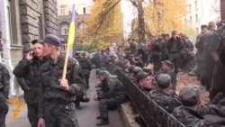 War-Weary Ukrainian Troops Protest In Kyiv