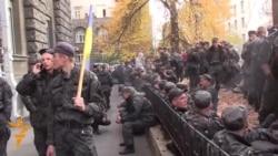 War-Weary Ukrainian Troops Protest In Kyiv