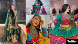 Афганистански жени споделят в социалните мрежи снимки на традиционни афганистански дрехи.