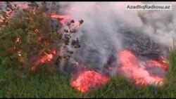 Lava yaşayış məskənlərinə yaxınlaşır