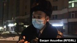 Участковый инспектор Дидар Мухамеди. Алматы, 27 февраля 2021 года.