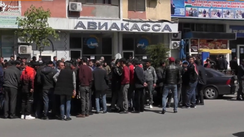 Russia Finally Opens Its Borders To Tajik Migrants, But Exorbitant Airfares Keeping Laborers Out