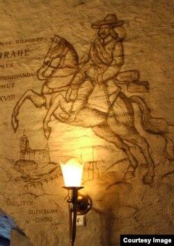 Восстановленная роспись Круглой башни. Фотография предоставлена А. Коломойским