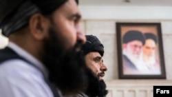 نشست خبری هیئت اعزامی طالبان به تهران در بهمن ۹۹