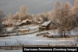 Havas falusi táj Szibériában