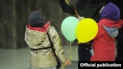 Ирактан алып келинген балдар. Бишкек. 16-март, 2021-жыл.