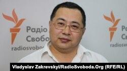 Гражданский активист Ермек Нарымбаев. Киев, 25 августа 2016 года.