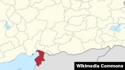 Турецкая провинция Хатай (отмечена красным), где в субботу при взрывах погибли десятки жителей