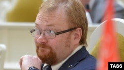 "St. Petersburg lawmaker Vitaly Milonov claimed on September 2 that all of the city's sexual minorities had ""gone to Europe."""