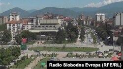 Поглед на центарот на Тетово.