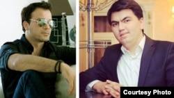 Тажик эстрада жылдызы Бахром Гафури (солдо) жана жол кырсыгынын күнөөкөрү Ислом Анварзода