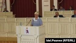 Маргарита Турусинова в момент избрания судьёй КС в июне 2018 года, на сессии Государственного собрания Марий Эл