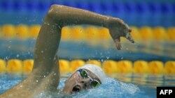Ігар Бокі плыве 400 м вольным стылем на Алімпіядзе ў Лёндане, 2012