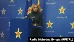 Заменик-претседателката на СДСМ Радмила Шеќеринска.