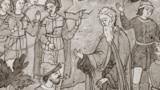 """Фрагмент гравюры. Иллюстрация """"Наказание Аввакума сибирским воеводой Пашковым"""""""
