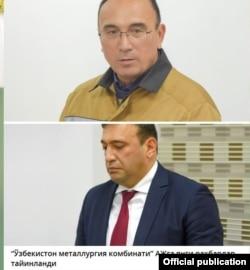 """""""O'zbekiston metallurgiya kombinati""""ning 20 - yanvar kuni Abdulla Aripov tayinlagan yangi rahbarlari."""