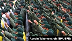 Članovi iranske Islamske revolucionarne garde na obilježavanju 40. godišnjice Islamske revolucije, 11. februara u Teheranu.