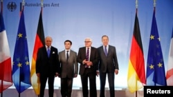 Ministrat e jashtëm të Francës, Ukrainës, Gjermanisë dhe Rusisë