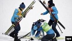 Тріумф української біатлонної жіночої команди в естафеті на Олімпіаді 2014 року, Сочі, Росія