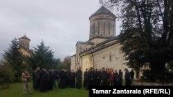 В Мартвили собрались прихожане, поддерживающие митрополита Петре Цаава