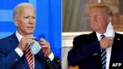 На составном фото — Джо Байден (слева) и Дональд Трамп.