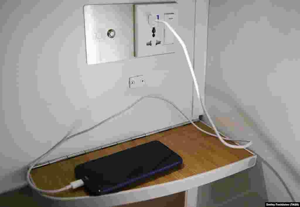Спальные места оснащены розетками для зарядки мобильных устройств…